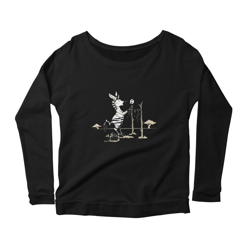 lavando rayas Women's Scoop Neck Longsleeve T-Shirt by buyodesign's Artist Shop