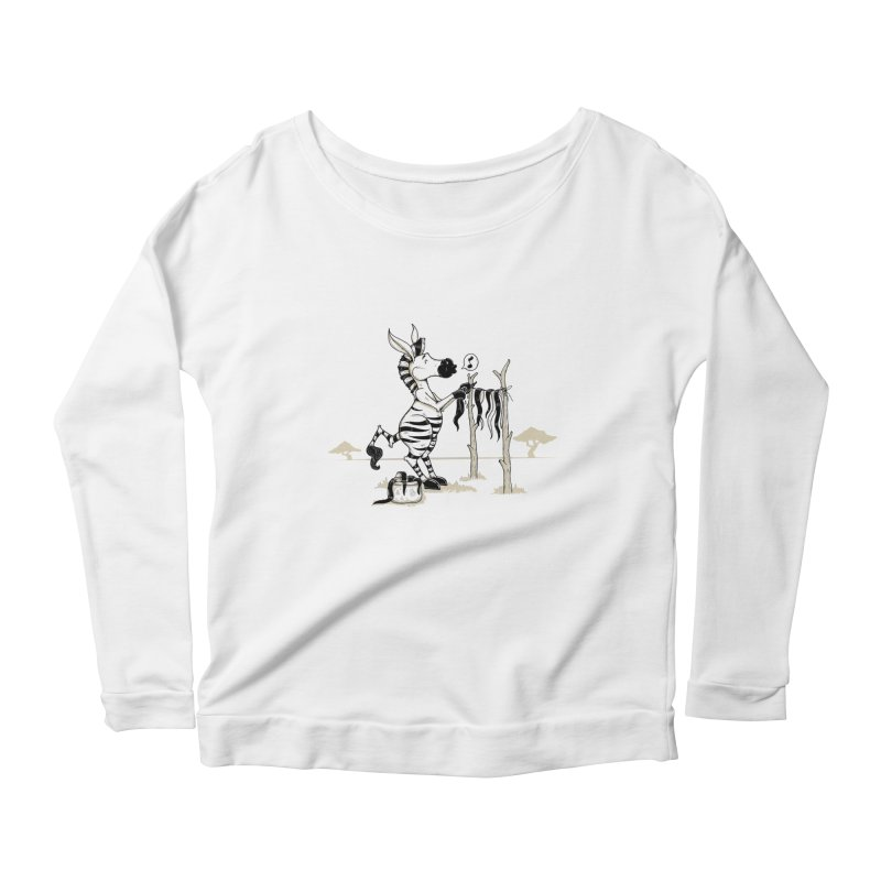 lavando rayas Women's Scoop Neck Longsleeve T-Shirt by buyodesign's Artist Shop