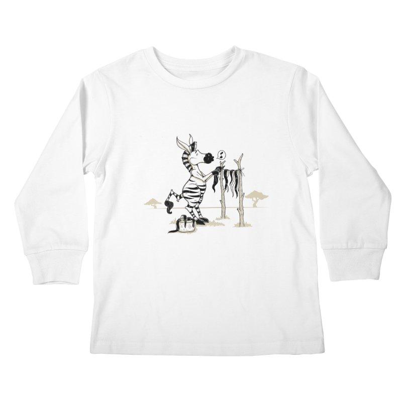 lavando rayas Kids Longsleeve T-Shirt by buyodesign's Artist Shop