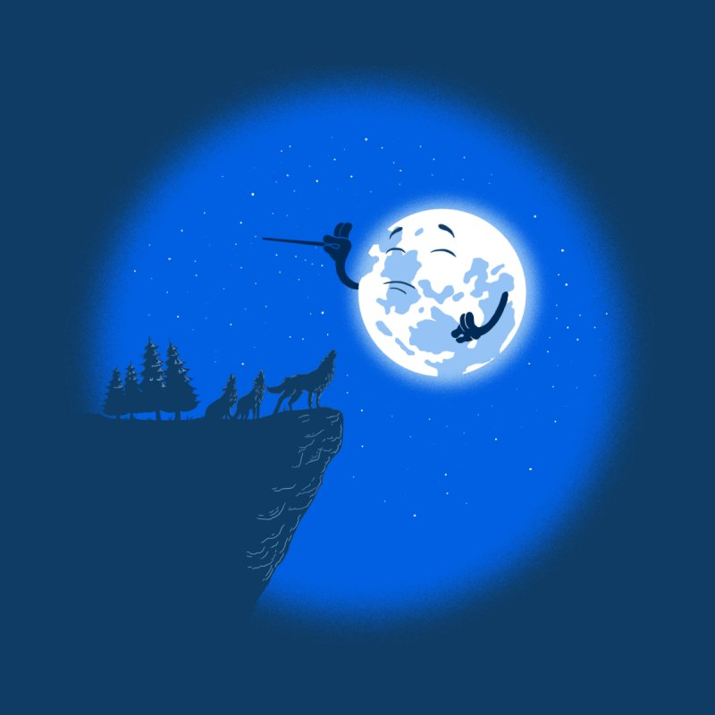 moon serenade Kids Toddler Longsleeve T-Shirt by buyodesign's Artist Shop