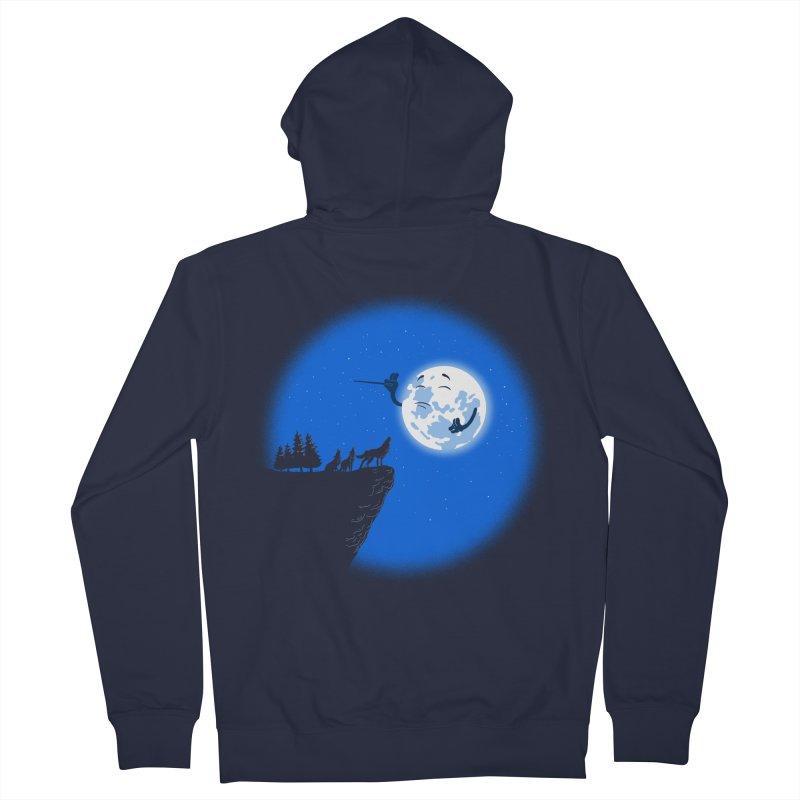 moon serenade Men's French Terry Zip-Up Hoody by buyodesign's Artist Shop