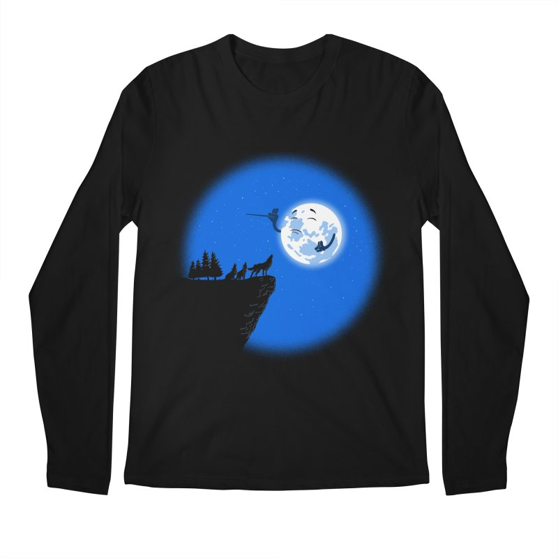 moon serenade Men's Regular Longsleeve T-Shirt by buyodesign's Artist Shop