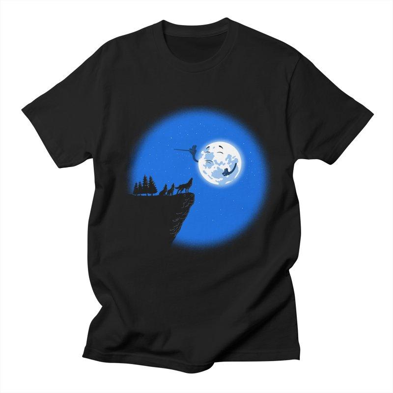 moon serenade Men's Regular T-Shirt by buyodesign's Artist Shop