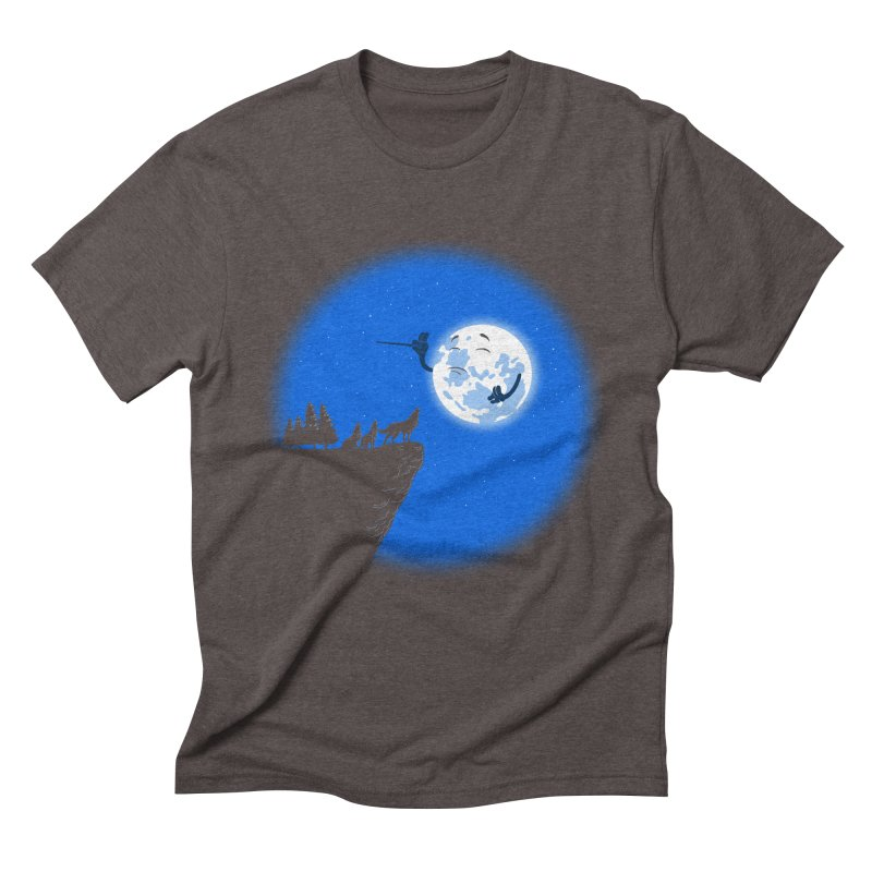 moon serenade Men's Triblend T-Shirt by buyodesign's Artist Shop