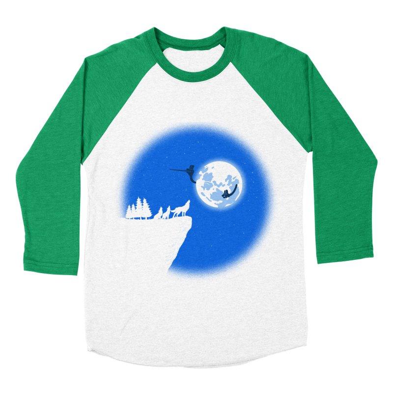 moon serenade Women's Baseball Triblend T-Shirt by buyodesign's Artist Shop