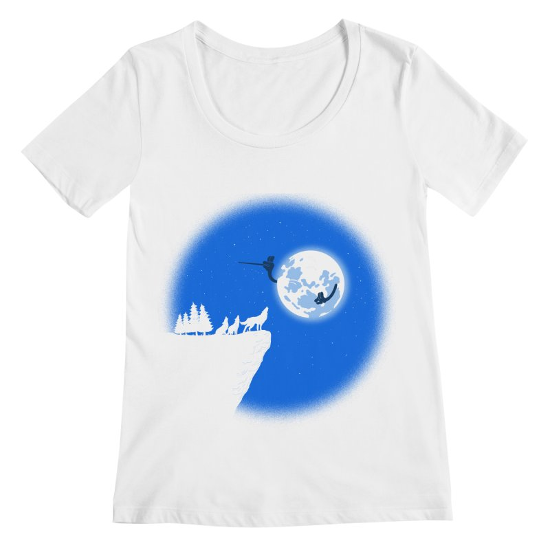 moon serenade Women's Regular Scoop Neck by buyodesign's Artist Shop