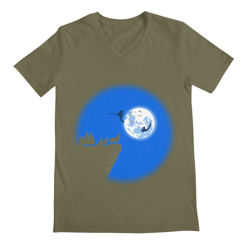 moon serenade Men's V-Neck by buyodesign's Artist Shop