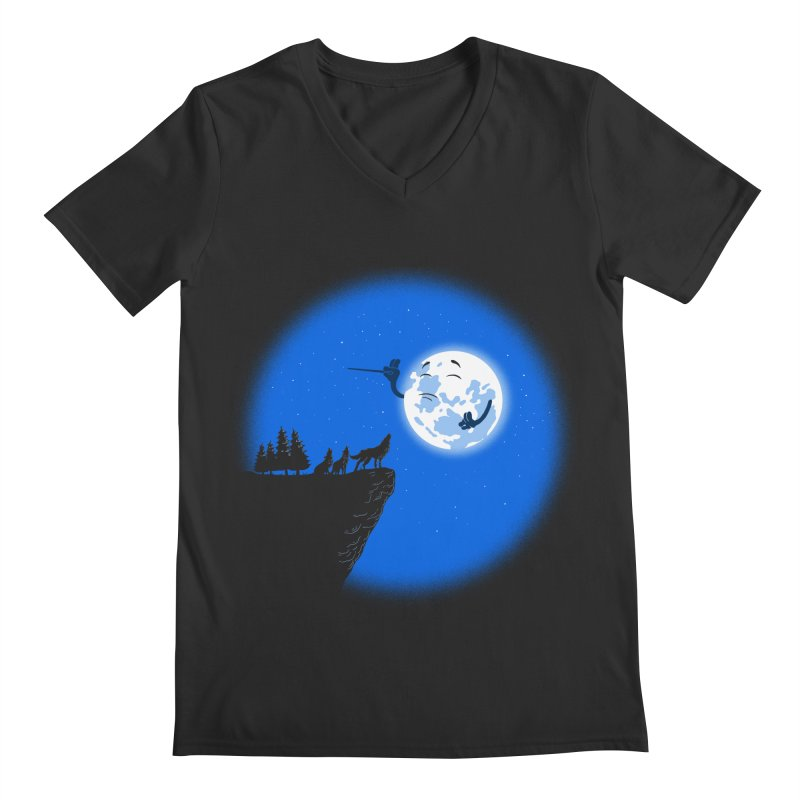 moon serenade Men's Regular V-Neck by buyodesign's Artist Shop