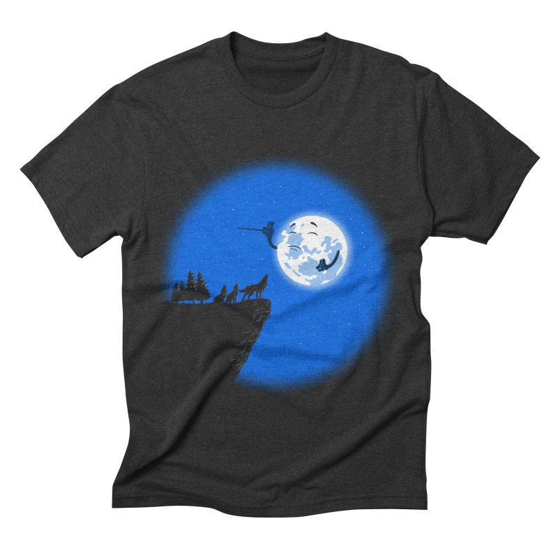 moon serenade Men's Triblend T-shirt by buyodesign's Artist Shop
