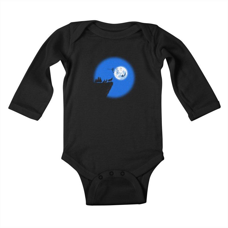 moon serenade Kids Baby Longsleeve Bodysuit by buyodesign's Artist Shop