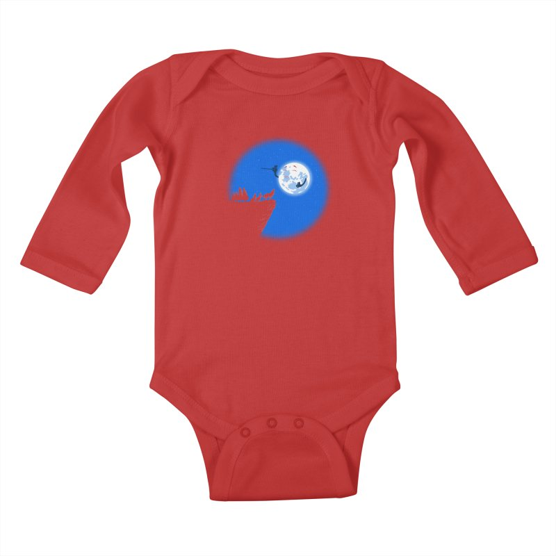 moon serenade Kids Baby Longsleeve Bodysuit by buyodesign's Artist Shop