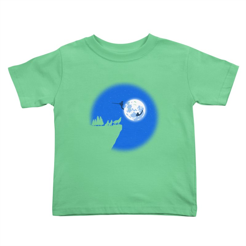 moon serenade Kids Toddler T-Shirt by buyodesign's Artist Shop