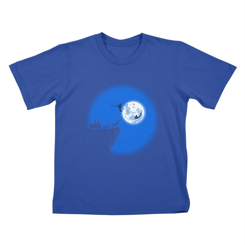 moon serenade Kids T-Shirt by buyodesign's Artist Shop