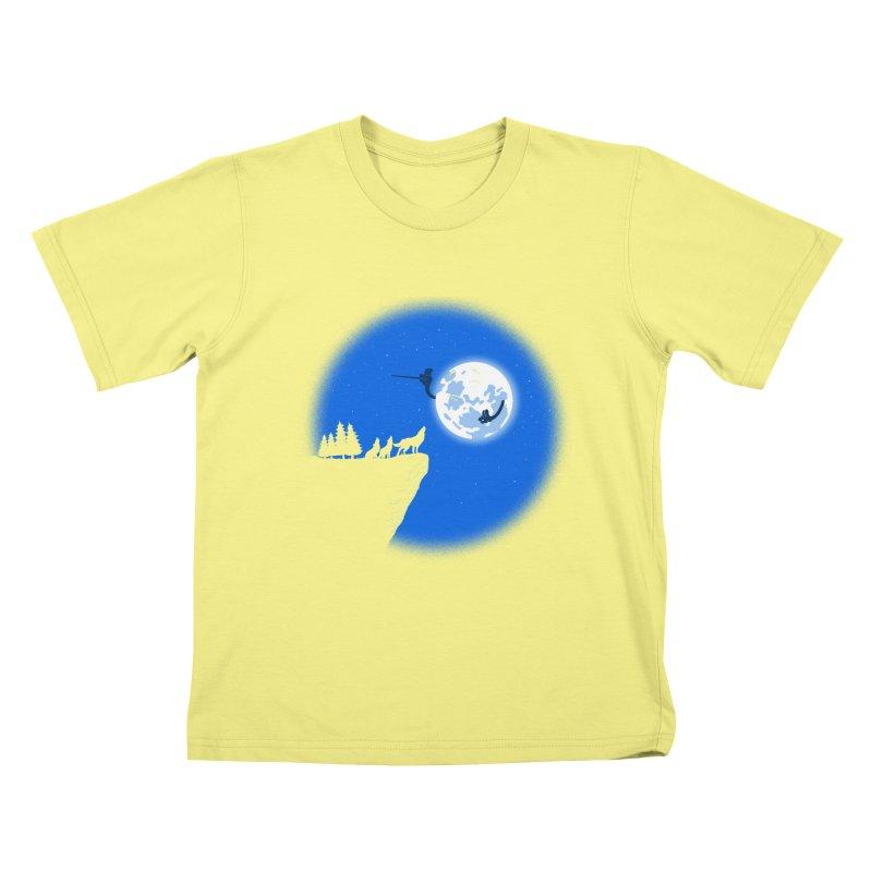 moon serenade Kids T-shirt by buyodesign's Artist Shop