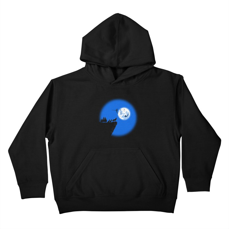 moon serenade Kids Pullover Hoody by buyodesign's Artist Shop