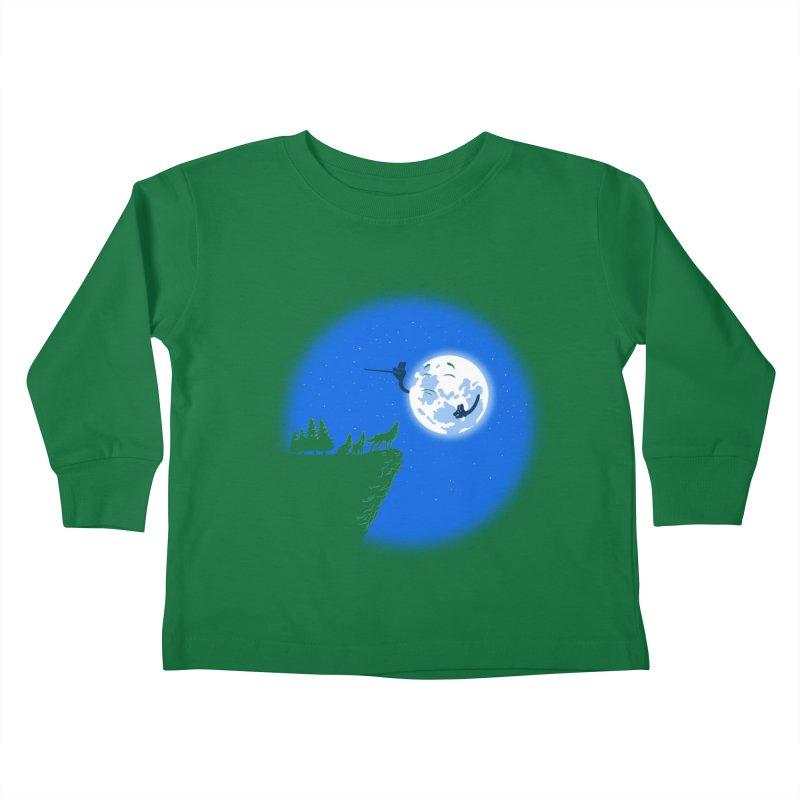 moon serenade Kids Toddler Longsleeve T-Shirt by buyodesign's Artist Shop