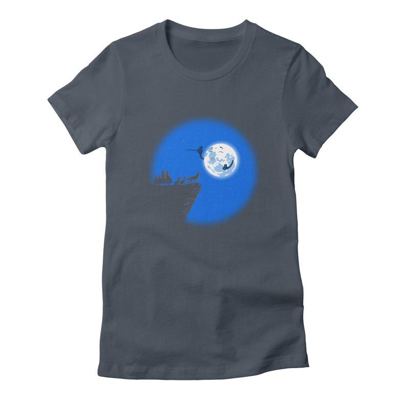 moon serenade Women's T-Shirt by buyodesign's Artist Shop