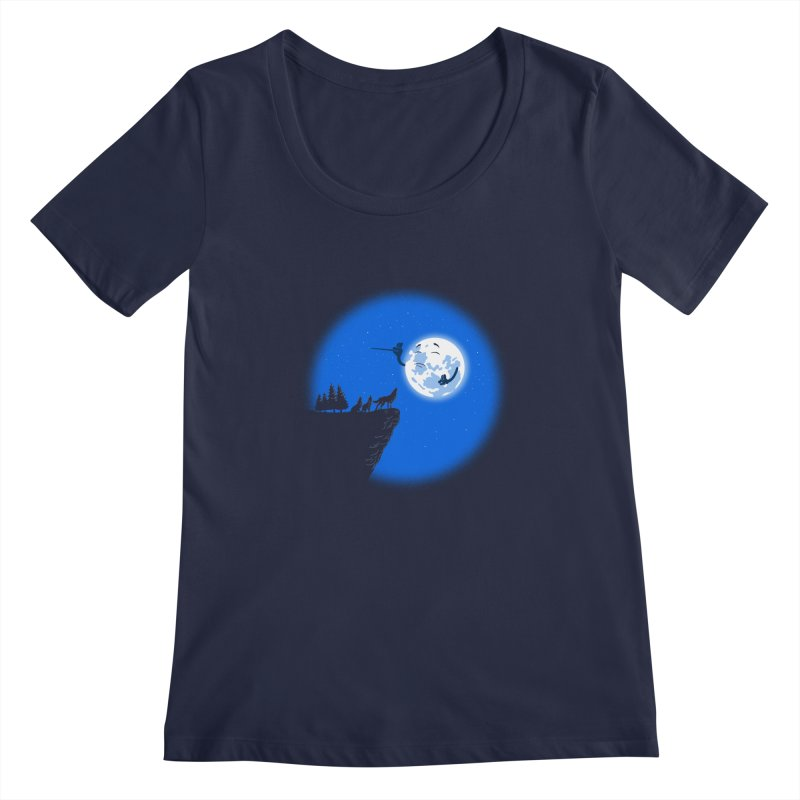 moon serenade Women's Scoopneck by buyodesign's Artist Shop