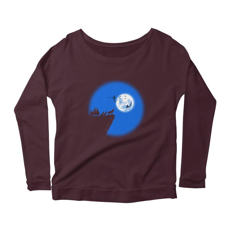 moon serenade Women's Scoop Neck Longsleeve T-Shirt by buyodesign's Artist Shop