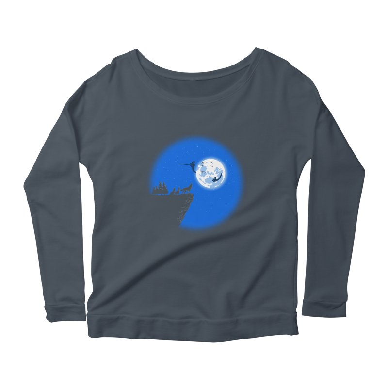 moon serenade Women's Longsleeve Scoopneck  by buyodesign's Artist Shop