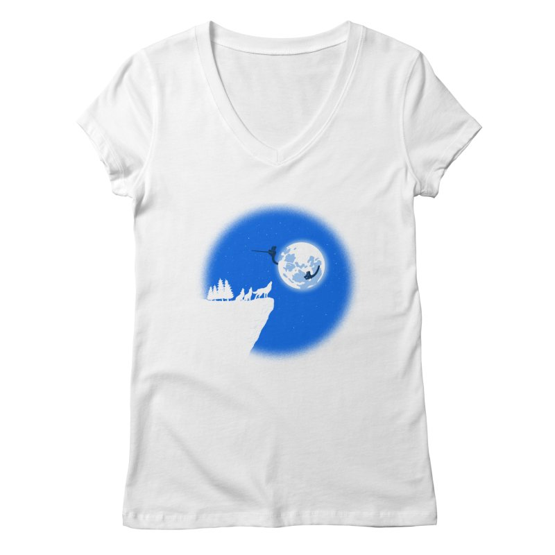 moon serenade Women's Regular V-Neck by buyodesign's Artist Shop
