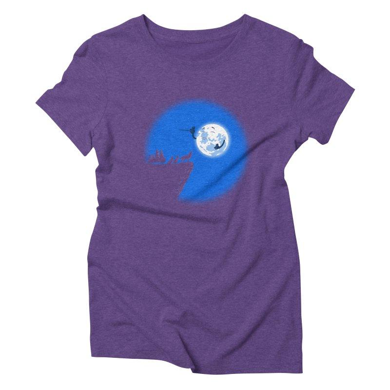 moon serenade Women's Triblend T-shirt by buyodesign's Artist Shop
