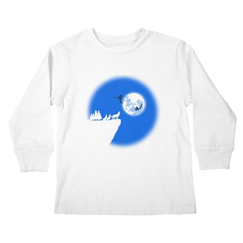 moon serenade Kids Longsleeve T-Shirt by buyodesign's Artist Shop