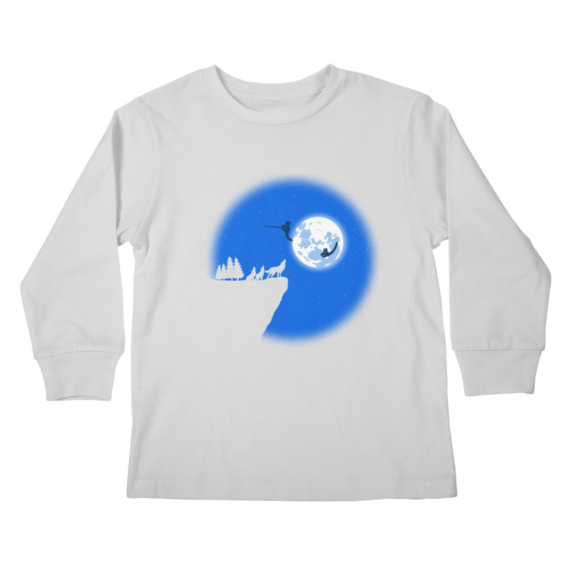 moon serenade Kids Longsleeve T-Shirt by buyodesign's Artist Shop