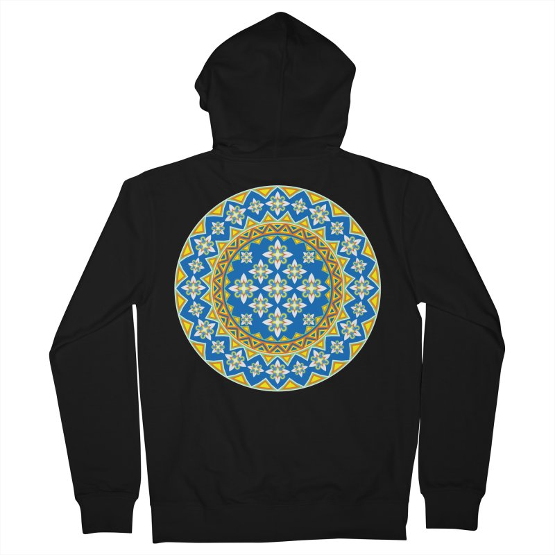 Space Flower Array Men's Zip-Up Hoody by Universe Deep Inside