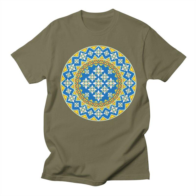 Space Flower Array Men's T-shirt by Universe Deep Inside