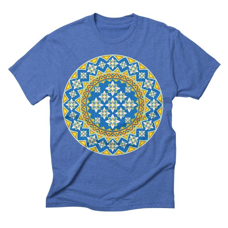 Space Flower Array Men's Triblend T-shirt by Universe Deep Inside