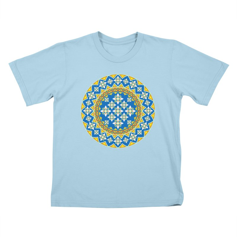 Space Flower Array Kids T-shirt by Universe Deep Inside
