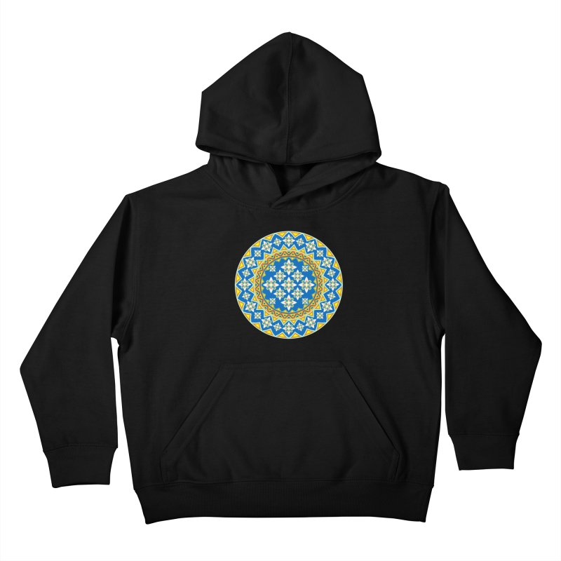Space Flower Array Kids Pullover Hoody by Universe Deep Inside