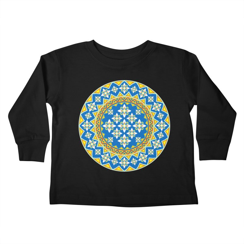 Space Flower Array Kids Toddler Longsleeve T-Shirt by Universe Deep Inside