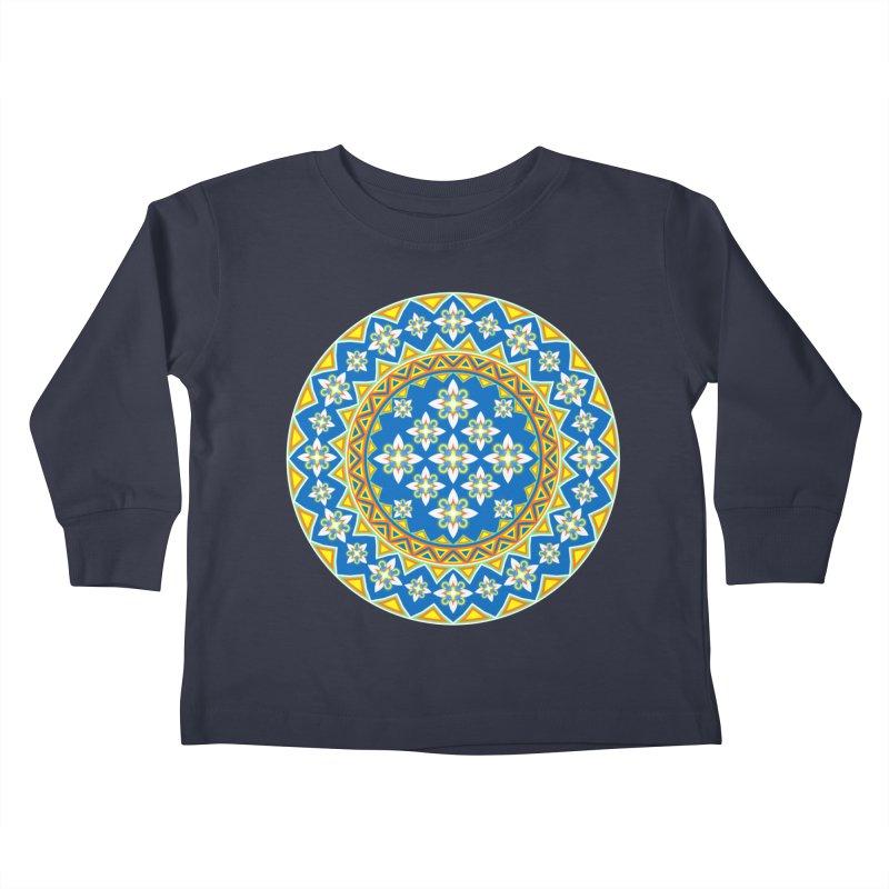 Space Flower Array Kids Toddler Longsleeve T-Shirt by Universe Deep Inside