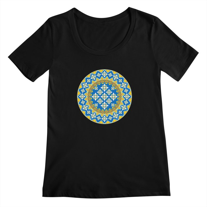 Space Flower Array Women's Scoopneck by Universe Deep Inside