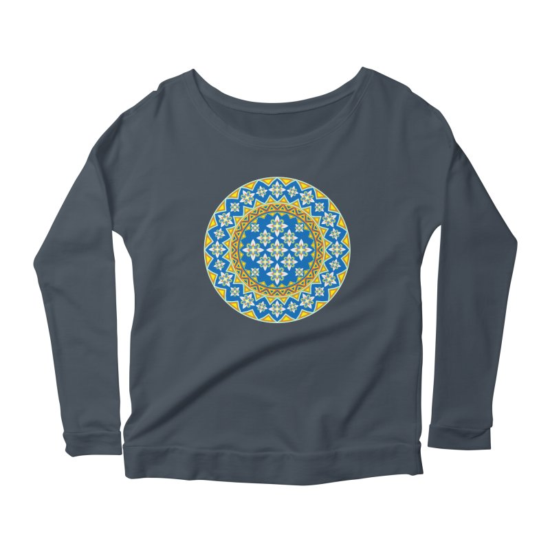 Space Flower Array Women's Longsleeve Scoopneck  by Universe Deep Inside