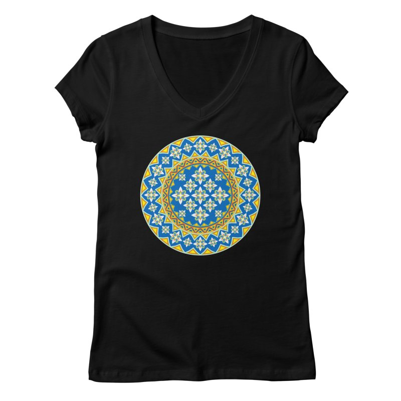 Space Flower Array Women's V-Neck by Universe Deep Inside