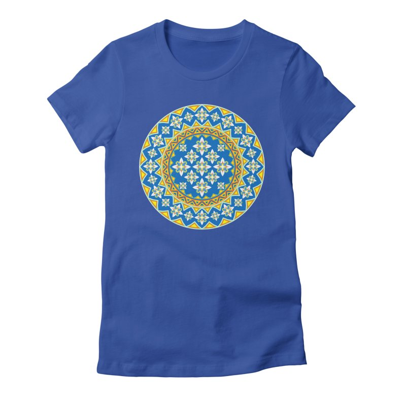 Space Flower Array Women's Fitted T-Shirt by Universe Deep Inside