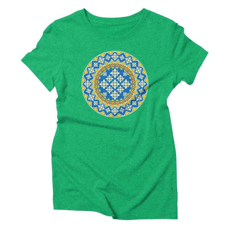 Space Flower Array Women's Triblend T-Shirt by Universe Deep Inside