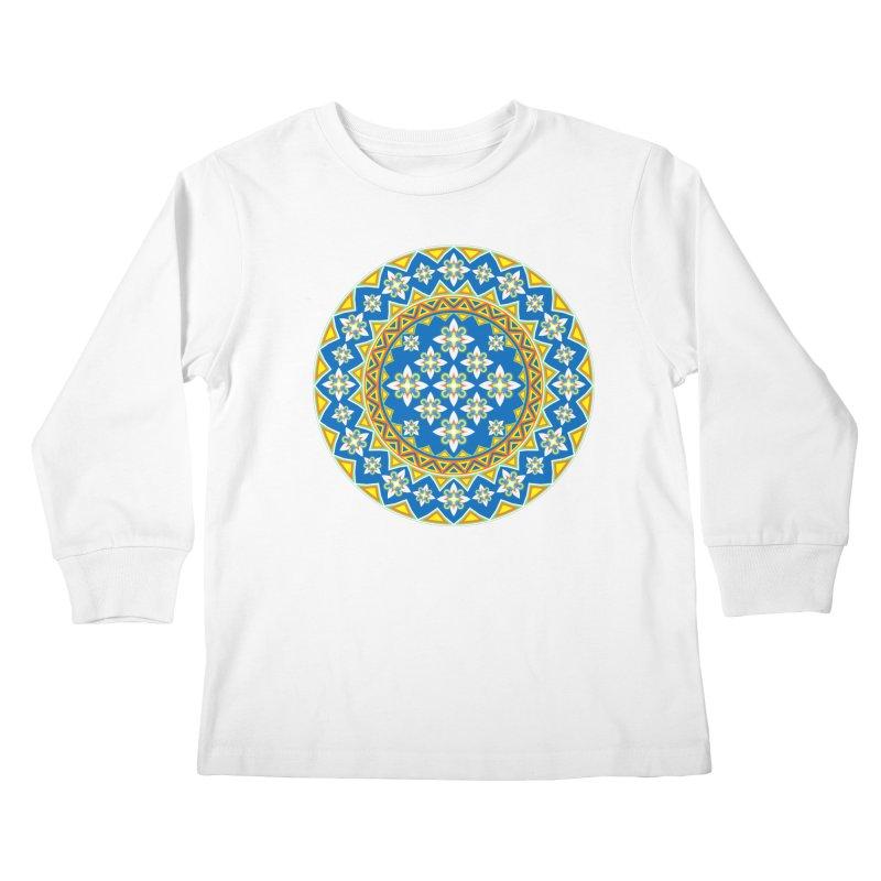 Space Flower Array Kids Longsleeve T-Shirt by Universe Deep Inside