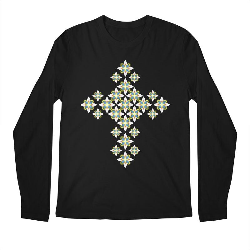 Space Flower Cross Men's Longsleeve T-Shirt by Universe Deep Inside
