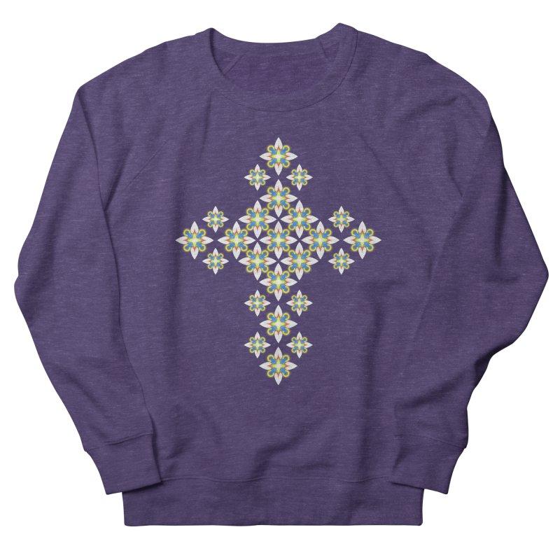Space Flower Cross Men's Sweatshirt by Universe Deep Inside