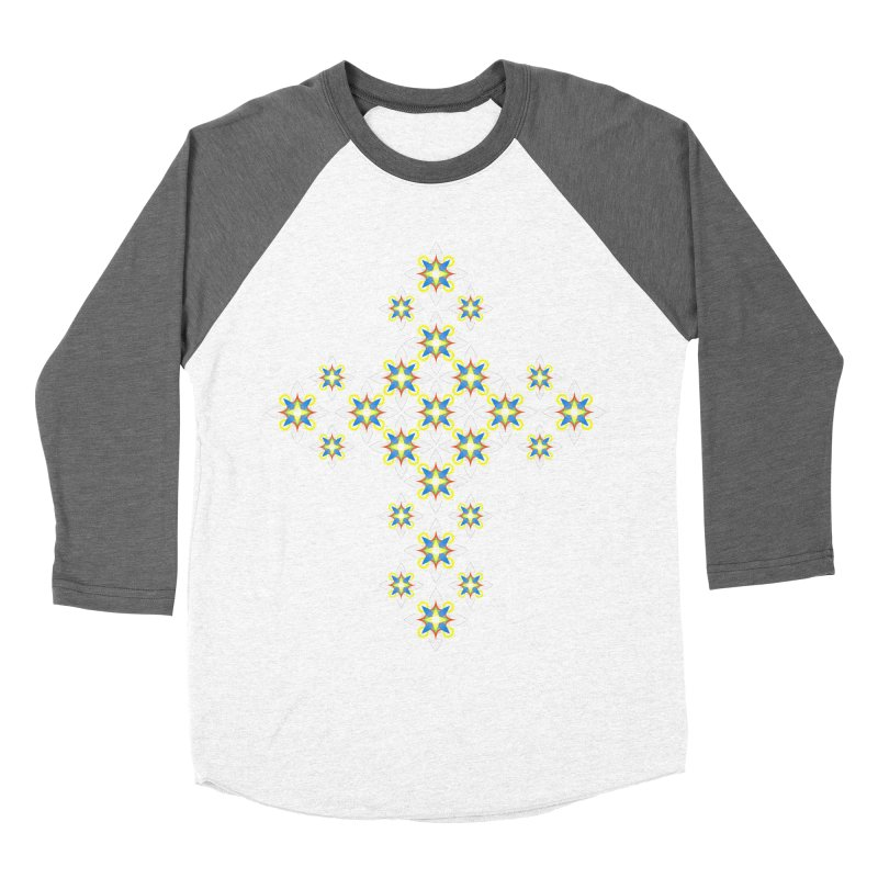 Space Flower Cross Women's Baseball Triblend T-Shirt by Universe Deep Inside