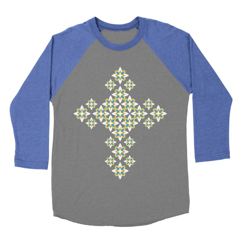 Space Flower Cross Women's Baseball Triblend T-Shirt by Universe Deep Inside