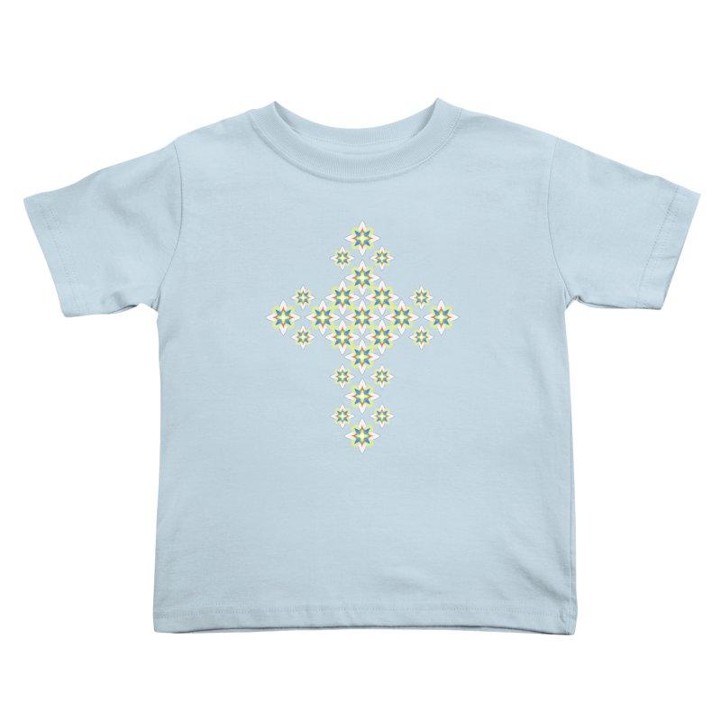 Space Flower Cross Kids Toddler T-Shirt by Universe Deep Inside