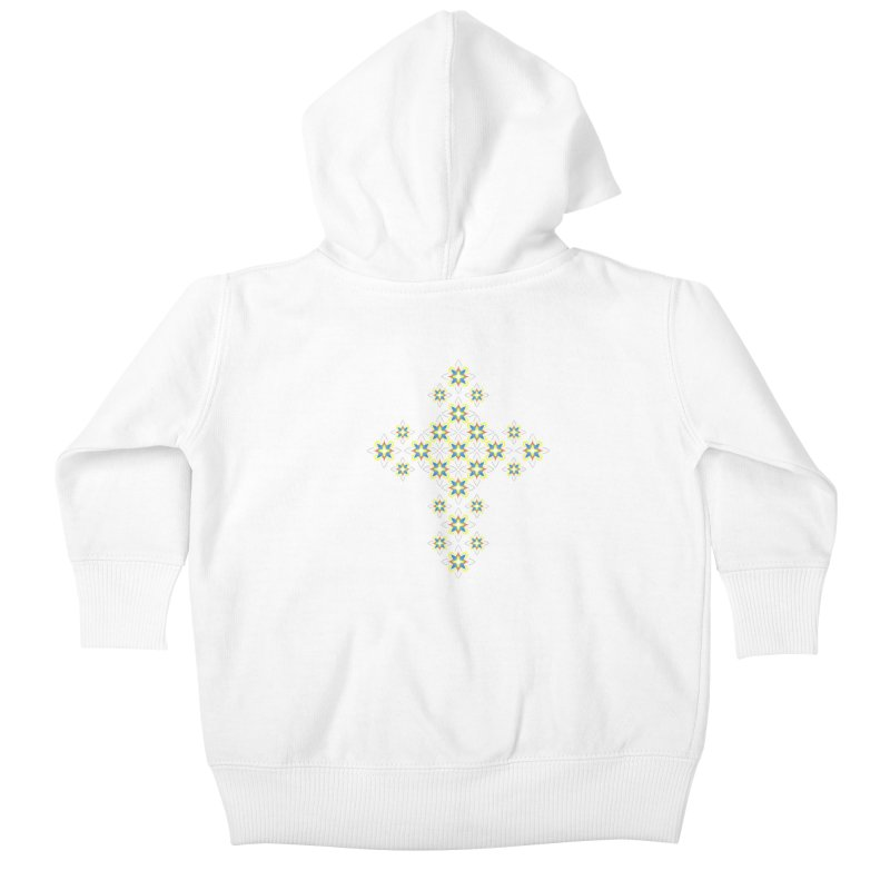 Space Flower Cross Kids Baby Zip-Up Hoody by Universe Deep Inside