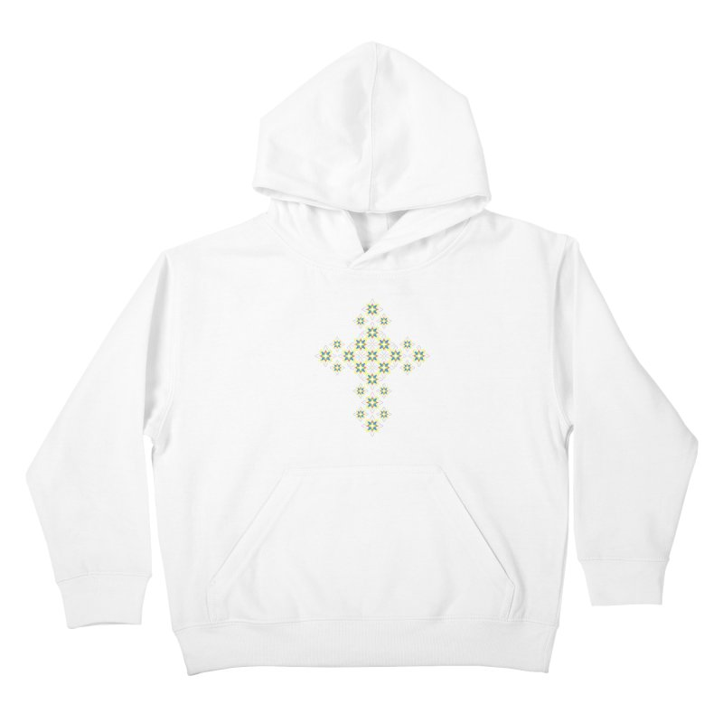 Space Flower Cross Kids Pullover Hoody by Universe Deep Inside