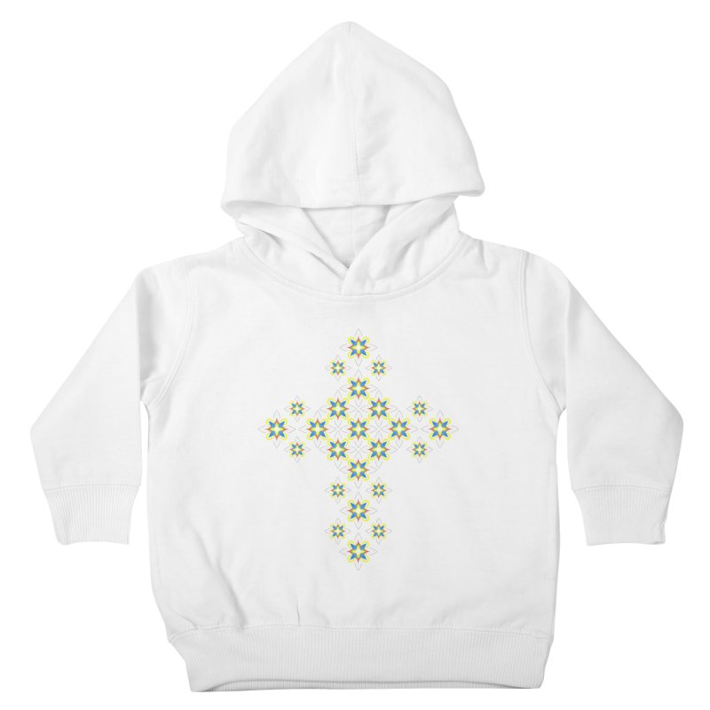 Space Flower Cross Kids Toddler Pullover Hoody by Universe Deep Inside