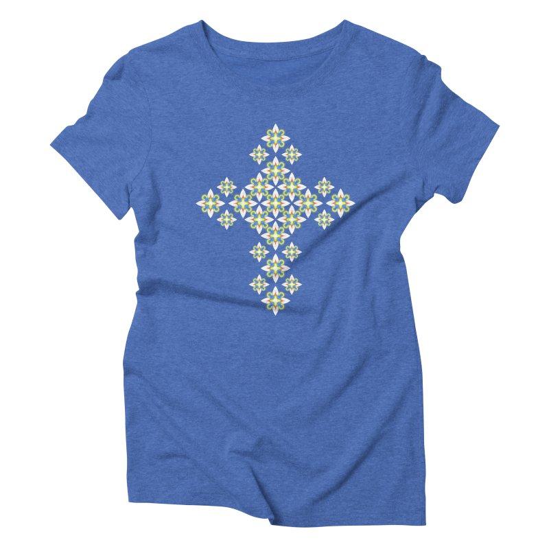 Space Flower Cross Women's Triblend T-Shirt by Universe Deep Inside